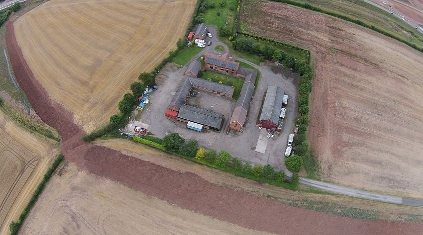 Aerial view of Winking Hill Farm business Park